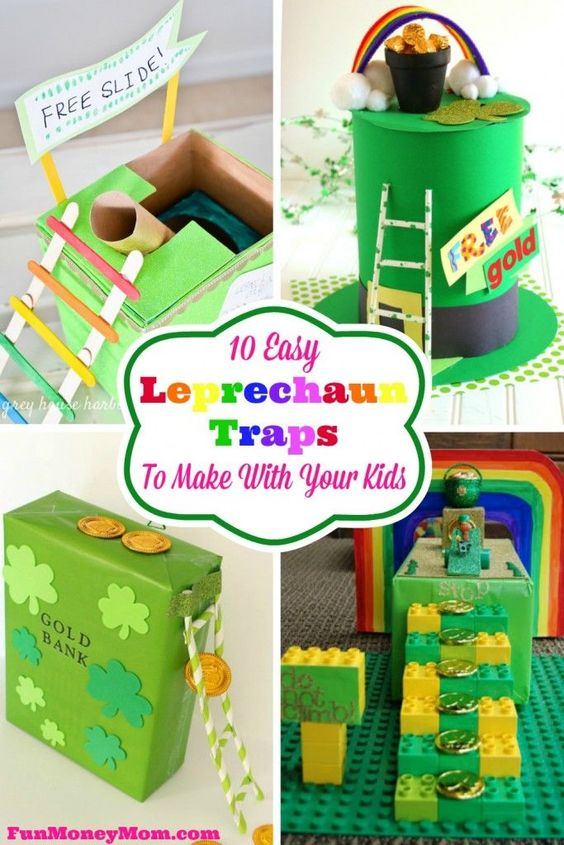 Looking for a fun St. Patty's Day activity for the kids?  They'll love making these cute leprechaun traps in hopes of getting a pot of gold!:
