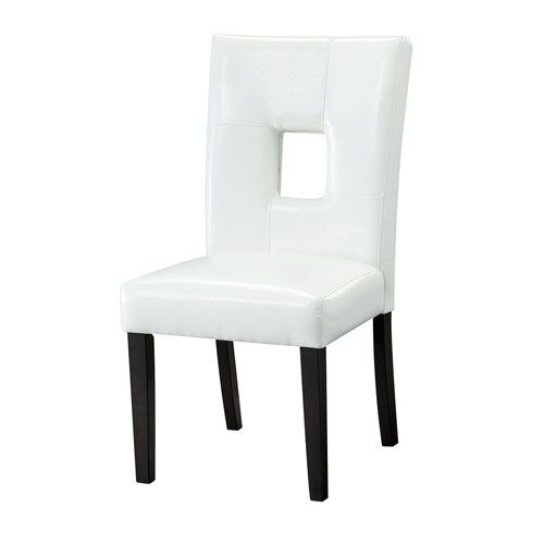 Coaster Furniture 103612wht White Upholstered Dining Chairs Set