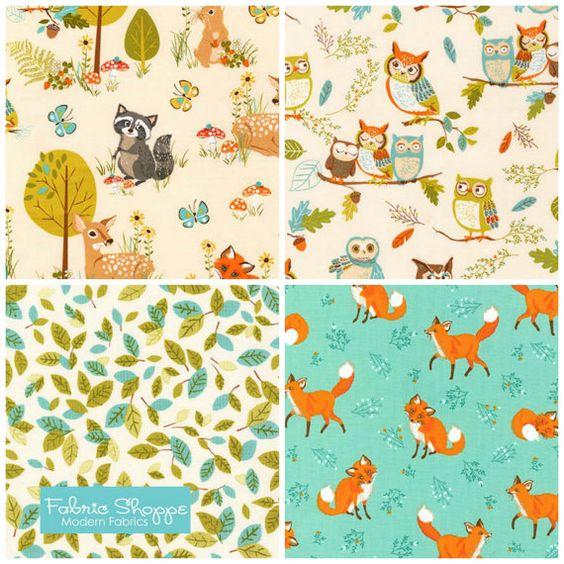 Forest Fellows fabric bundle by Sea Urchin Studio  by fabricshoppe