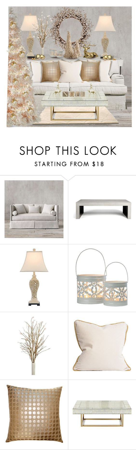 """""""Untitled #5163"""" by cassandra-cafone-wright ❤ liked on Polyvore featuring interior, interiors, interior design, home, home decor, interior decorating, Restoration Hardware, John Lewis, Squarefeathers and Jonathan Adler"""