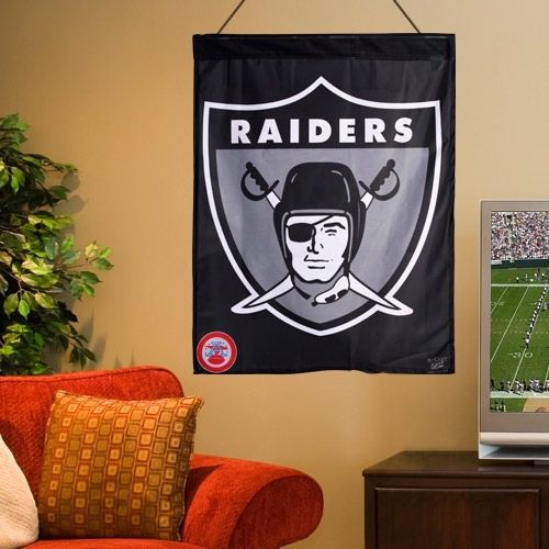 Oakland Raiders WinCraft Throwback Vertical Banner