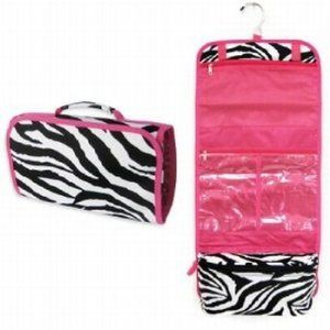Zebra Hot Pink Makeup Cosmetic Bag Case Large...I <3 the ones you can hang up!