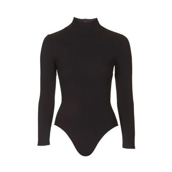 Long Sleeve Bodysuit by Twin Sister (£40) ❤ liked on Polyvore featuring intimates, shapewear and black