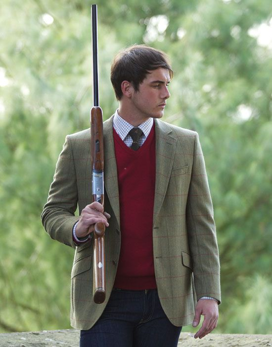 William Powell Tweed Action Back Jacket - Shooting Suits