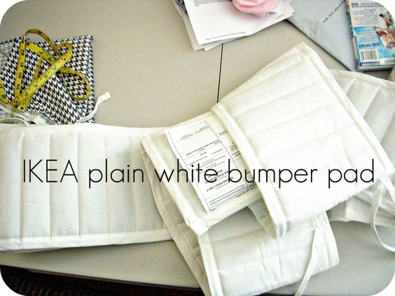 how to make crib bumper pads
