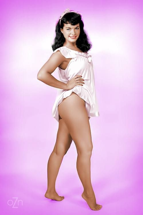 Queen of Pinups - Bettie Page Color