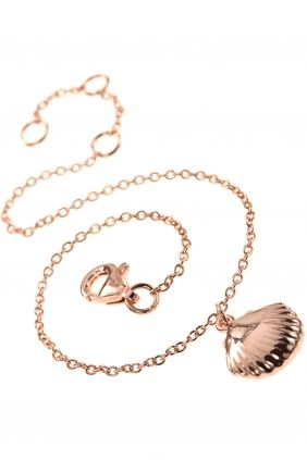 rose gold plated bracelet with #shell pendant I designed for NEW ONE I NEWONE-SHOP.COM