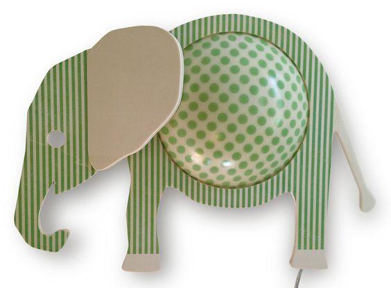 Wandlampe Elefant von annairina design auf DaWanda.com