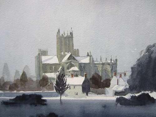 Wells Cathedral Snow With Images Painting Watercolor Artist