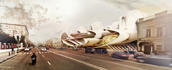 Gallery of Insect-Wing-Inspired Design Wins Moscow Circus School Competition - 2
