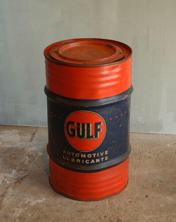 Barrels steel barrel and steel on pinterest for Motor oil by the barrel