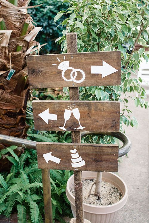 Wood Directional Sign