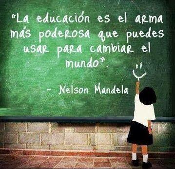 Pensamientos de Nelson Mandela sobre la educación                                                                                                                                                                                 Más