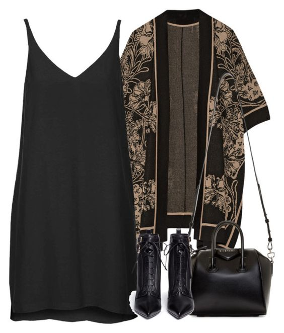 """""""Untitled #3960"""" by london-wanderlust ❤ liked on Polyvore featuring Anna Sui, Topshop, Givenchy and Sergio Rossi"""