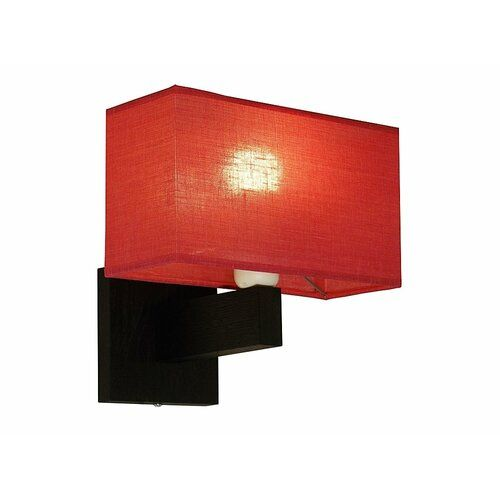 Lorenzo 1 Light Armed Sconce With Swing Arm Lamp Brayden Studio Shade Colour Clear Red Colour Dark Brown In 2020 Swing Arm Lamp Light Sconces