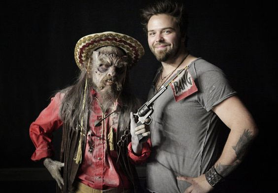 Tate Steinsiek and his comedy/horror themed creature.