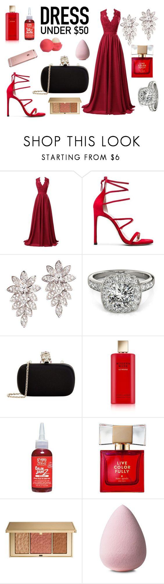 """""""#DressUnder50"""" by sashazaiats on Polyvore featuring мода, R&J, Allurez, Alexander McQueen, Estée Lauder, Beyond the Zone, Kate Spade, Eos и Dressunder50"""