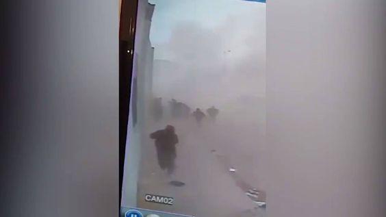 #شاهد | لحظة انفجار سيارة مفخخة في مدينة اعزاز بريف #حلب ترصدها كاميرا مراقبة #أورينت #سوريا
