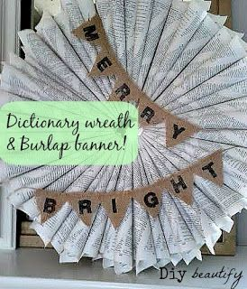 How to Make a Mini Burlap Banner | Diy beautify