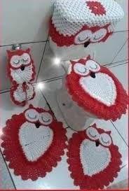 Resultado de imagem para jogo banheiro coruja croche