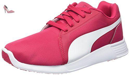St Evo, Chaussures de Running Entrainement Mixte Adulte - Multicolore (Rose Red/White), 38.5 EUPuma