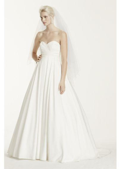 Pleated Strapless Wedding Dress with Empire Waist David&39s Briday ...