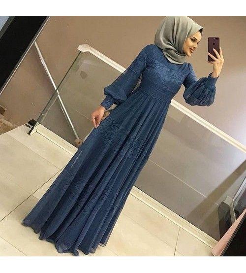 Huma Hatun Tesettur Abiye Elbise Modelleri Islami Giyim Elbise