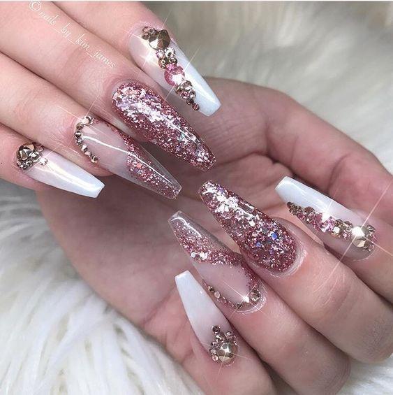 44 Coffin Acrylic Summer Nail Designs 2019 Glam Nails Bling