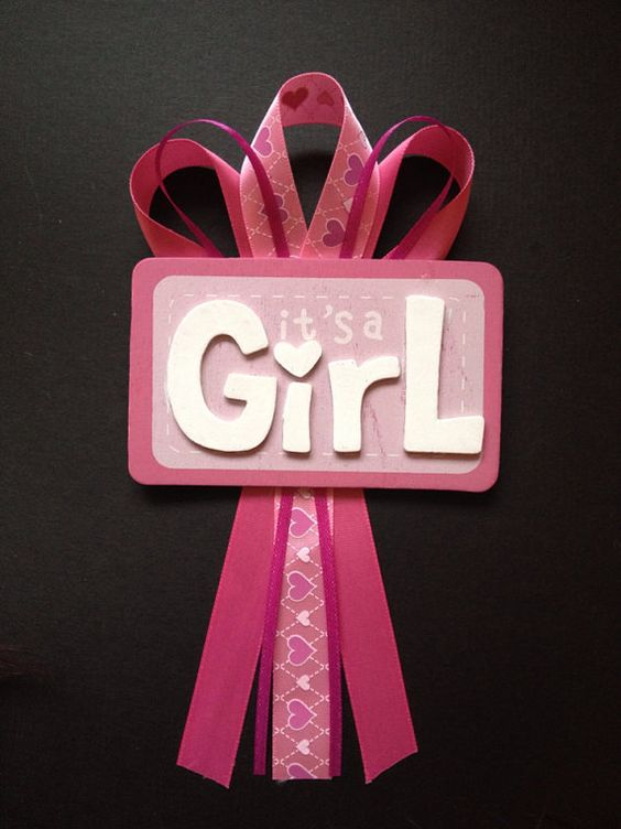 It's a Girl Baby Shower Pin on Etsy, $5.00