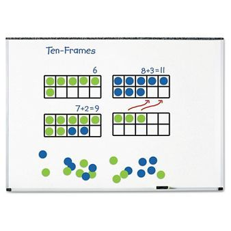 Learning Resources Giant Magnetic Ten-Frame Set, 12 1/4