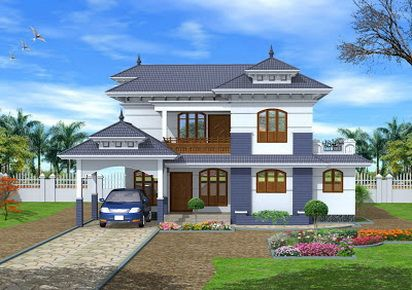 oustanding Traditional Kerala Style Home Exterior Design Front ,   #Design #exterior #front #home #kerala #style #traditional picture from http://homesdesign.us/2014/07/28/traditional-kerala-style-home-exterior-design-front/