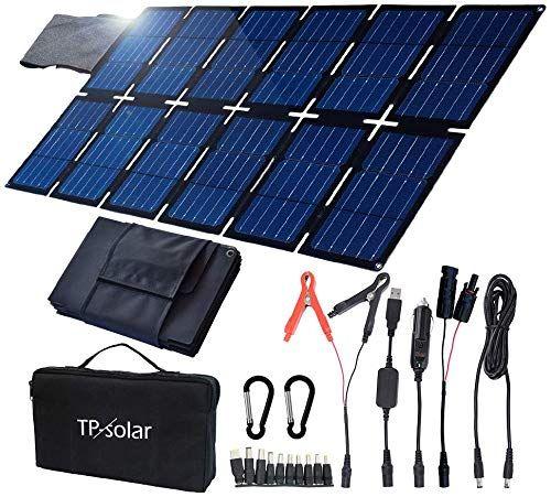 Enjoy Exclusive For Tp Solar 100w Foldable Solar Panel Charger Kit Portable Generator Power Station Smartphones Laptop Car Boat Rv Trailer 12v Battery Charging Dual 5v Usb 19v Dc Output Online In