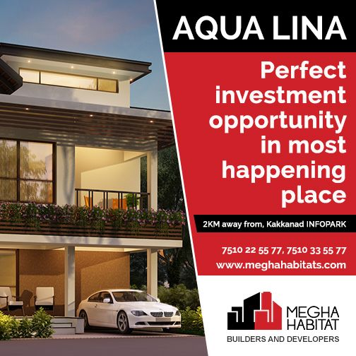 Megha Habitat   AQUALINA Perfect Investment Opportunity In Most Happening  Place Megha Habitats Introduce Our New Upcoming Villa Project #KOCHI Onlu2026  ...