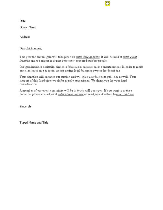 charity auction letter template special event donation fundraising - charity sponsor form template