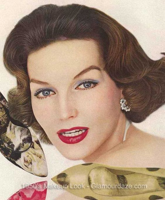 style hair vogue 1950s makeup look glamourdaze3 1950s makeup 4792