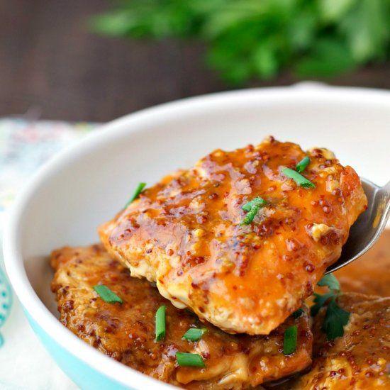4-Ingredient Maple-Glazed Salmon