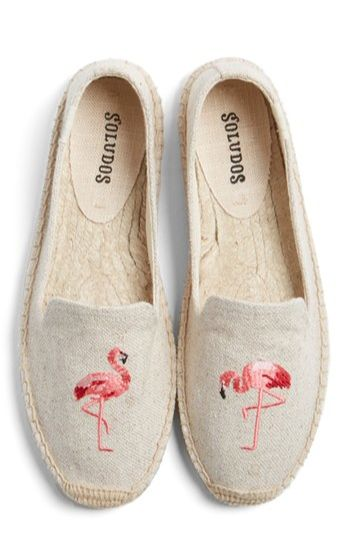 loving these flamingo print espadrilles