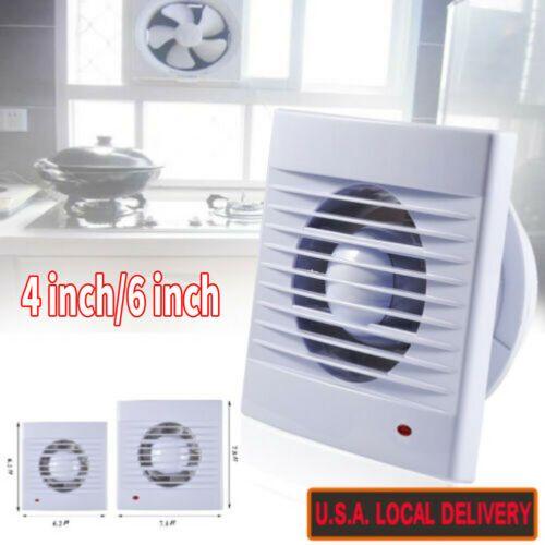 4 6 Bathroom Kitchen Extractor Exhaust Wall Fan Garage Air Vent Ventilation Kitchen Extractor Wall Fans Bathroom Fan