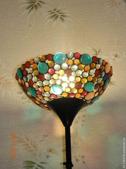 """Освещение ручной работы. Ярмарка Мастеров - ручная работа. Купить Торшер напольный """"Морские камушки"""". Handmade. Разноцветный, цветное стекло"""
