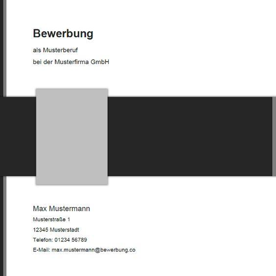 Vorlage Für Die #Bewerbung In Edlen Grau-Tönen Mit Deckblatt