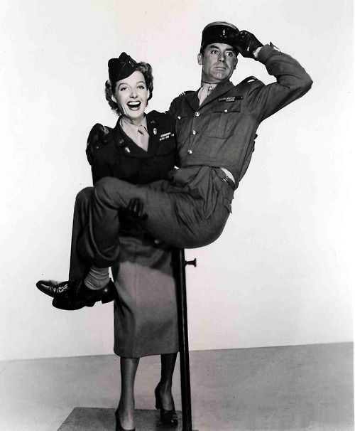 """I Was A Male War Bride"": Ann Sheridan & Cary Grant:"