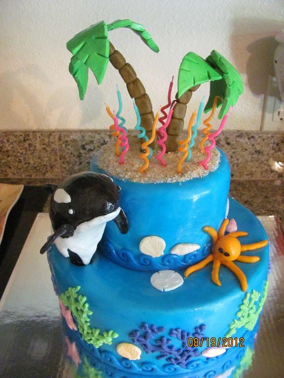 Ocean ocra beach cake