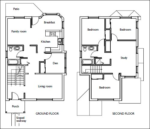 House Floor Plans Stairs Pinned By