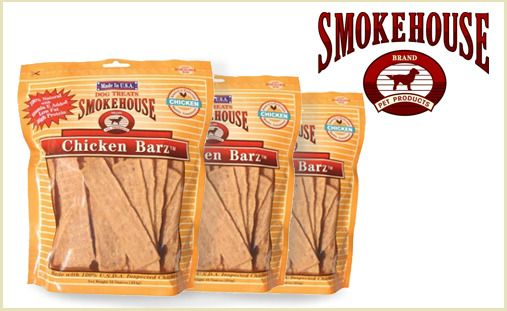 Your dog will love the rich savory flavor of Smokehouse Chicken Barz, a 100% USDA-inspected chicken breast treat that's made in the USA. You'll get three packs of 4oz bars with this deal, which are the perfect high-protein treat for training or rewards! $24