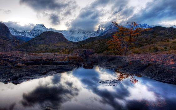 природа, озеро, пейзаж, горы