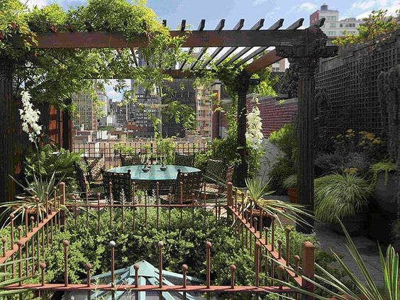 Terrace covered pergola patio and new york on pinterest for Terrace pergola
