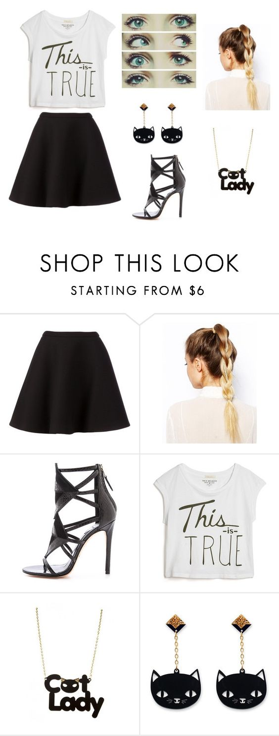 """""""Outfit"""" by skyemarie62114 ❤ liked on Polyvore featuring Neil Barrett, ASOS, B Brian Atwood and True Religion"""