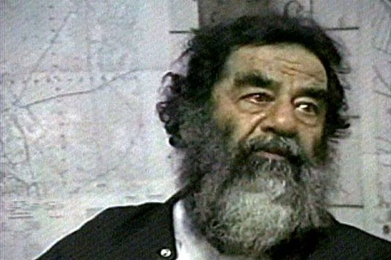 Saddam Hussein soon after his capture near Tiktit, Iraq. (AP Photo/US Military via APTN)