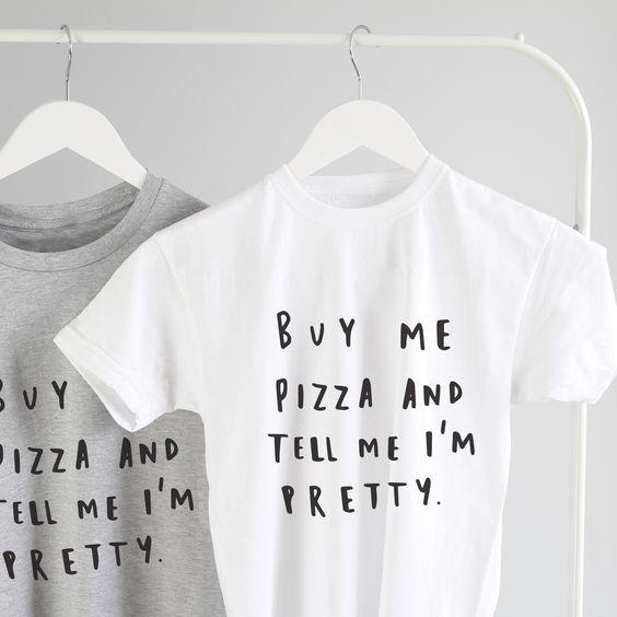 Buy me pizza, please?  pizza t shirt!