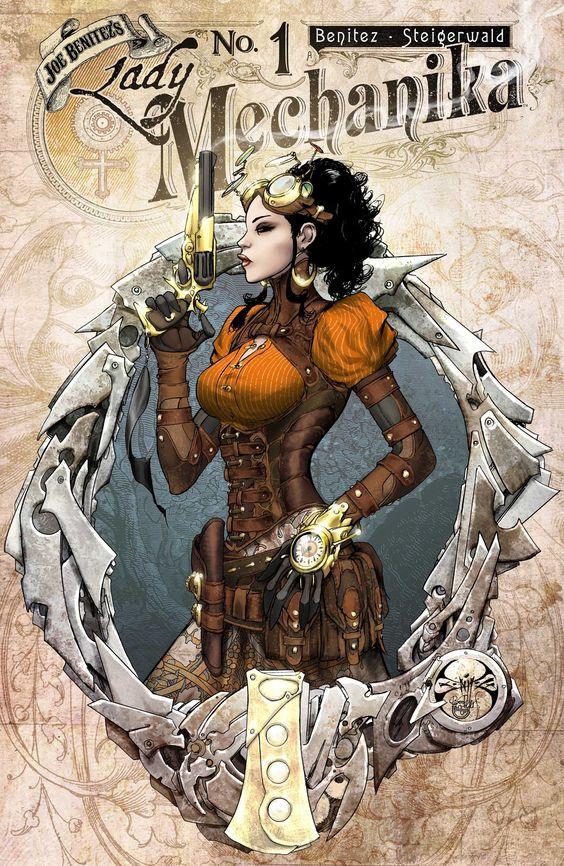 Lady Mechanika #1 - Cover Art by Joe Benitez & Peter Steigerwald
